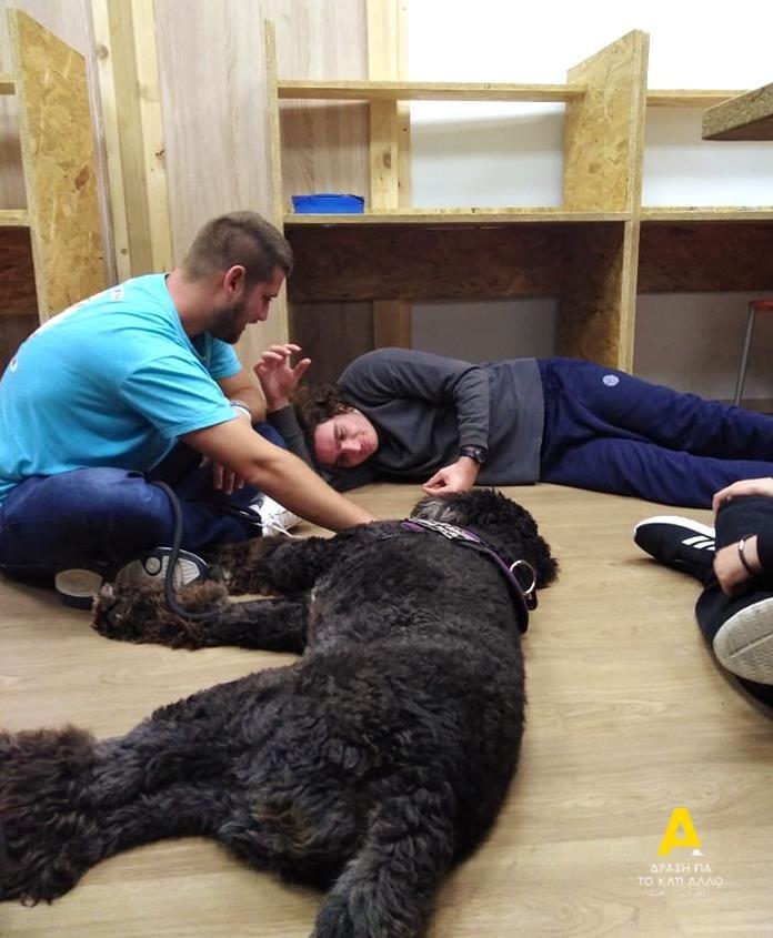 Παιδί με αυτισμό μαζί με σκύλο βοηθό