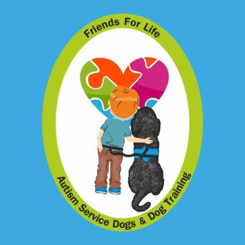 Λογότυπο κέντρου εκπαίδευσης Σκύλων Βοηθών για παιδιά με αυτισμό, Friends for life
