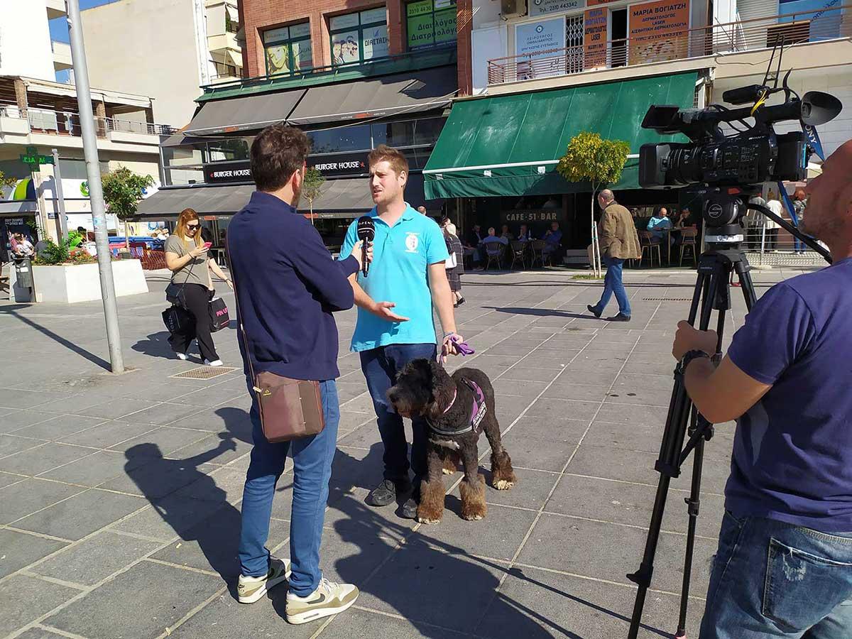 συνέντευξη για σκύλους βοηθούς